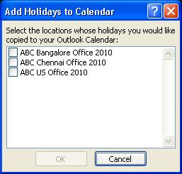 Create a custom Outlook holiday file | 2LeggedSpider